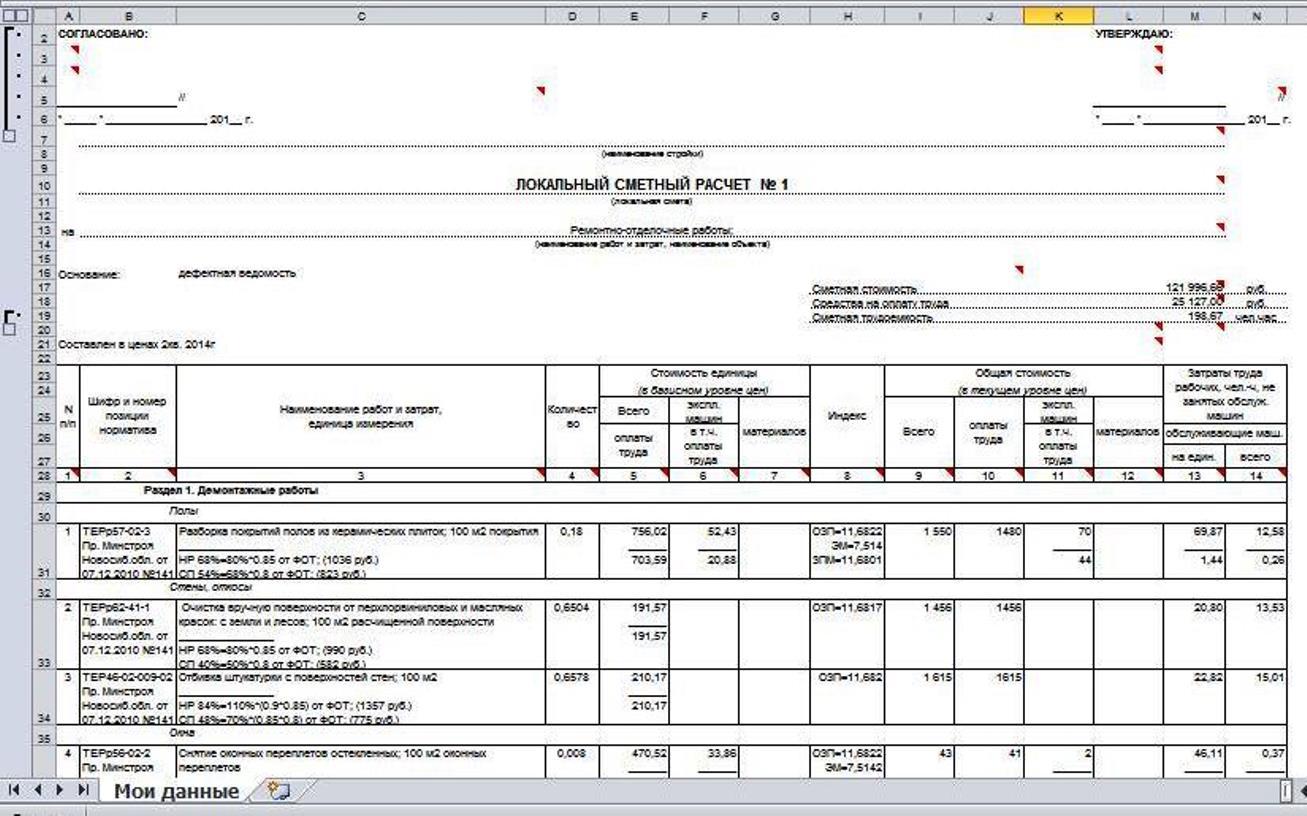 Сметы на проектные работы примеры на ремонт кровли